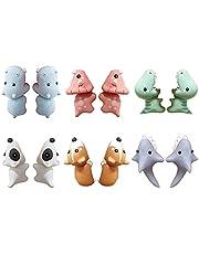 Animal Bite Earring, 3d Cute Animal Clay Oud Oorbellen Met Shark Dog Dinosaur Voor Meisjes Dames 6pairs