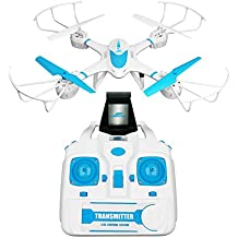 RCtown FPV Drone with Wifi Camera Live Video Headless Mode 2.4GHz 4 Chanel 6 Axis Gyro RTF MJX X400W RC Quadcopter, Compatible with 3D VR Headset (blue)