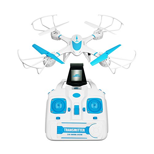 RCtown FPV Drone with Wifi Camera Live Video Headless Mode 2.4GHz 4 Chanel 6 Axis Gyro RTF MJX X400W RC Quadcopter, Compatible with 3D VR Headset (blue) by RCtown