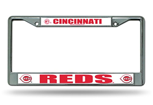 MLB Cincinnati Reds Chrome License Plate Frame