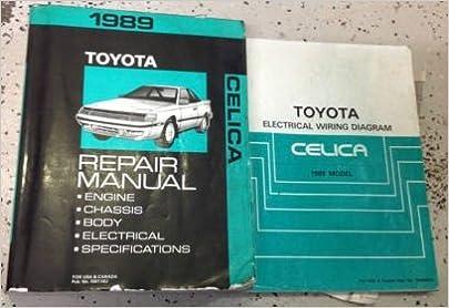delorean wiring diagrams 1989 toyota celica service repair shop workshop manual set w  1989 toyota celica service repair shop