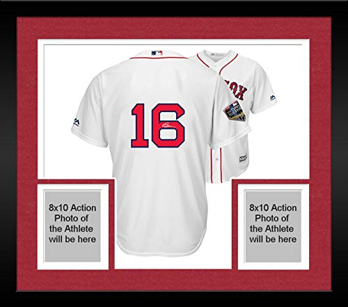 Framed Andrew Benintendi Boston Red Sox 2018 MLB World Series Champions Autographed Majestic White Replica World Series Jersey - Fanatics Authentic ()