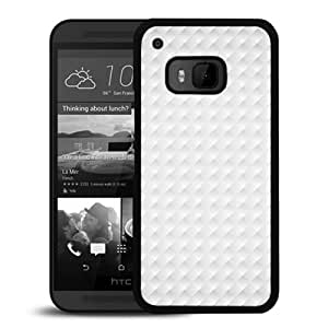 Engraved White Pattern Durable High Quality HTC ONE M9 Phone Case