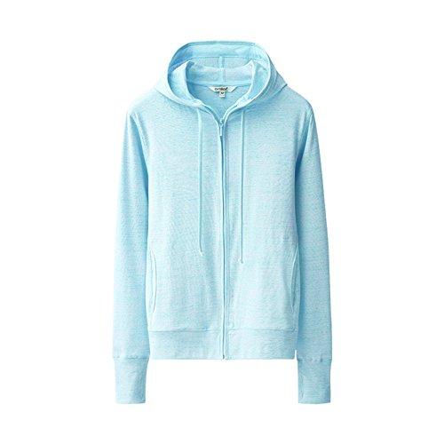 nbsp;zip nbsp; assortiti chandails bleu nbsp; manches hooded Femme L longues gilets colori nbsp;loisir IAFC5w