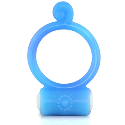 Eden Двойные Гладкие 7 Вибрирующие Функции петух кольцо (Play Голубой силиконовый многоразовых)