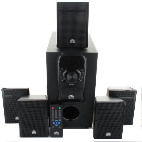 Acoustic Audio AA5150 Home Theater 5.1 Speaker System 400W with Powered Sub