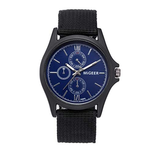 Wrist Watches, LuluZanm Classic Men Watch Wrist Nylon Mesh Belt Watch Strap Quartz Casual Watches -