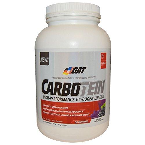 GAT Carbotein supplément, raisin, 3,85 livres