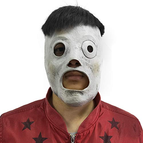 ZMJ Slipknot Mask Taylor Cosplay Costume Props Adults Latex Grey