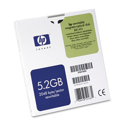 HP - Magneto Optical Disk, 5.25'', 5.2GB, 2,048 Bytes/Sector, Rewritable 88147J (DMi EA by HP