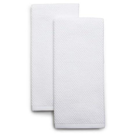 Utopia Dish Cloths & Towels Kitchen - (12 Pack) Machine Washable Cotton  White X