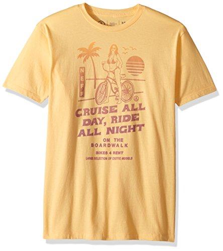 NEFF Men's Bike Rental Short Sleeve Tee Shirt, Squash, (Wholesale Designer T-shirts)