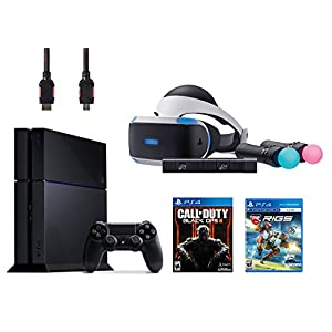 PlayStation VR Start Bundle 5 Items:VR Headset,Move Controller,PlayStation Camera Motion Sensor,PlayStation 4 Call of Duty Black Ops III,VR Game Disc RIGS Mechanized Combat League