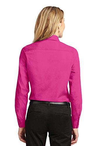 Pink De Manga Camisa Portuaria Larga Fácil Autoridad Cuidar tropical Rosa Mujeres Rtqwxv4I