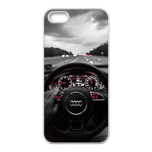 Audi coque iPhone 4 4S Housse Blanc téléphone portable couverture de cas coque EBDOBCKCO13630