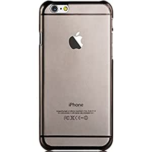 JUJEO VOUNI 0.8mm Transparent Slim Hard Case for iPhone 6 4.7-Inch, Black, Non-Retail Packaging