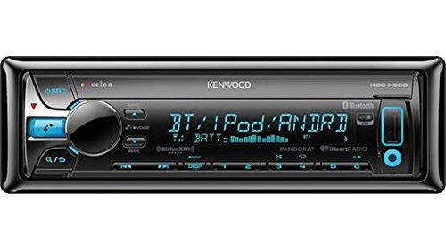 Kenwood KDC-X500 Single Din Bluetooth In-Dash CD/AM/FM Car Stereo