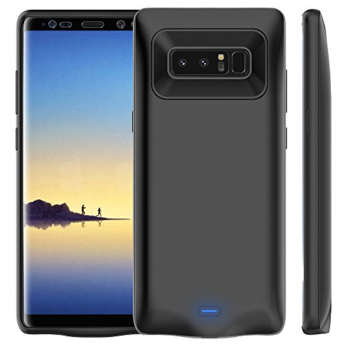 Price comparison product image Galaxy Note 8 Battery Case 5500mAh, Vproof Rechargeable External Battery Portable Charger Protective Charging Case Power Bank Cover for Samsung Galaxy Note 8 (Black)