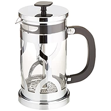 Chef's Star French Press 34oz Coffee Maker,Hi Qualty Stainless Steel Frame - Pyrex Glass, 2 Bonus Screen Filters