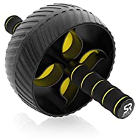 """Sports Research Ab Wheel Roller with Knee Pad   Sturdy 3"""" Wheel for Core Workouts in The Gym or at Home"""