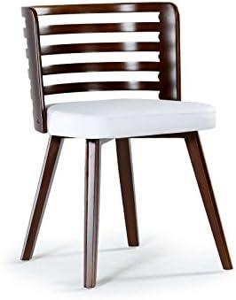 Menzzo koxy sillas, sintética (P.U.), Color Blanco, 48,5: Amazon.es: Hogar