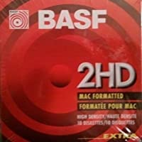 BASF 2HD Mac Formated 3 1/2 Floppy Disc (Pack of 10)