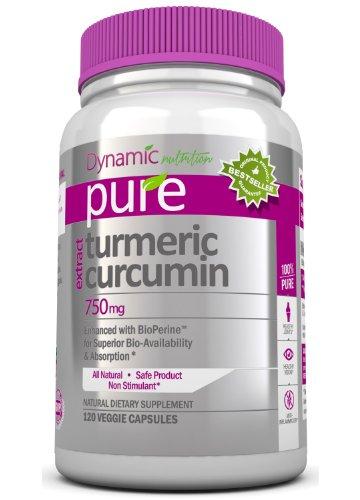 Curcuma curcumine extrait avec Bioperine, 1500 mg par portion, 120 Vegetarian Capsules. Pur Curcuma soutient conjointe et foie sain, vieillissement, Vision, et est un puissant anti-inflammatoire pour protéger votre corps contre les radicaux libres. Curcum
