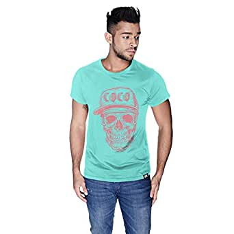 Creo Watermelon Coco Skull T-Shirt For Men - S, Green