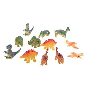 Baosity Lot 12Pcs Dinosaurs PVC Small Animal Model Figures Kids Educational Toys