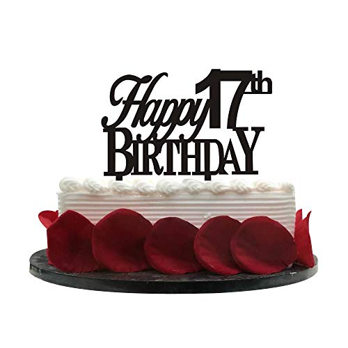 Happy 17th Birthday Cake Topper