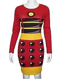 Daleks Exterminate Womens Long Sleeve Costume Dress