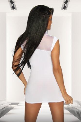 Unbekannt - Vestido - para mujer blanco Weiß small