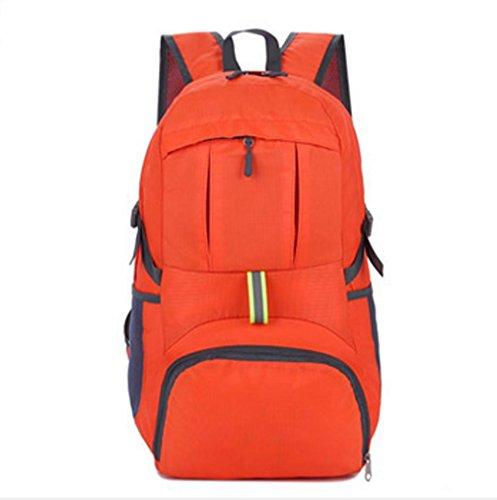 BUSL De gran capacidad exterior del paquete del alpinismo del recorrido del hombro de nylon impermeable del paquete de admisión bolsa plegable 35L . orange Orange