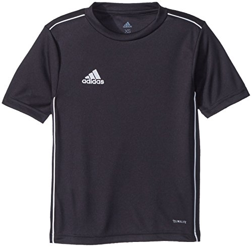 adidas Unisex Youth Soccer Core18 Training Jersey, Black/White, X-Small