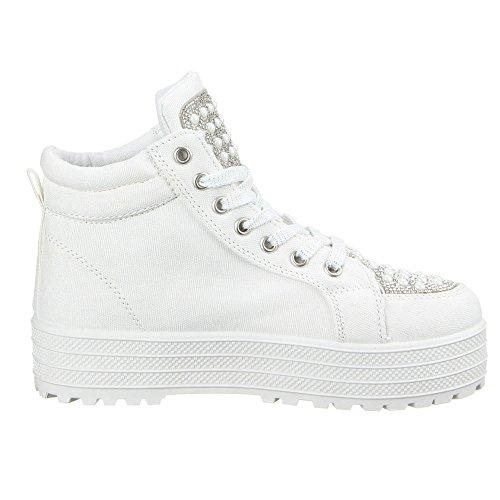 Ital-Design - Zapatillas altas Mujer Blanco - blanco