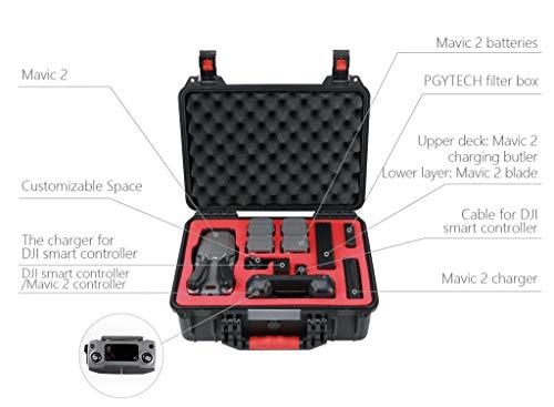MOZATE PGYTECH Hardshell Shockproof Case Box Suitcase Bag for DJI Mavic 2 &Smart Controller (Black) by MOZATE (Image #3)