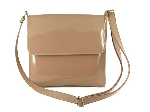 Faux Taupe Suede LONI Cool Nude Bag Body Shoulder Cross wax5vq