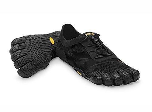 Vibram FiveFingers Men's KSO EVO Barefoot Shoes Black 44 & Pemium Toesock Bundle