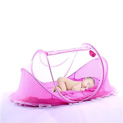 XWB Foldable Infant Baby Crib Pad Mosquito Net Travel Cots Newborn Portable Crib Tent Mattress Cradle Bed Pillow