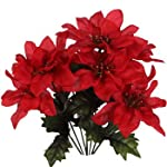 Pack-of-4-Christmas-House-7-stem-Red-Poinsettia-Bushes-with-Glittered-Accents-13