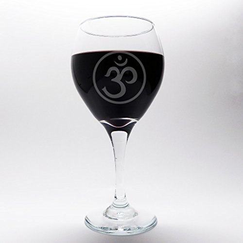 Ohm Wine Glass 20 Oz Yoga Etched Glassware For Bar And Import It All