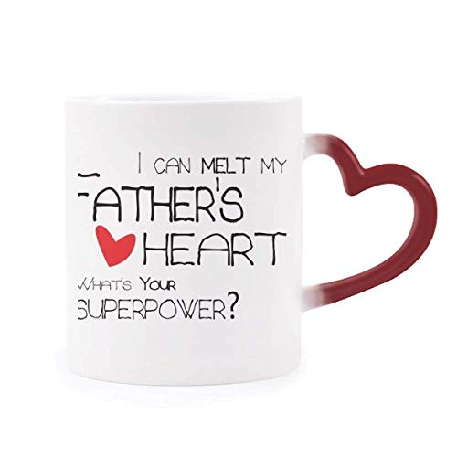 I Can Melt My Father's Heart Best Papa Love Morphing Mug Heat Sensitive Red Heart Cup