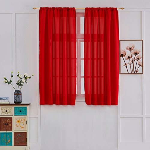 BeautyShe Curtains Sheer Net White Canopy Room Divider Voile 1 Panel ()