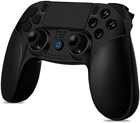 Qingta Wireless Game Controller for PS4 Rechargeable Support PS3 with LED Light Portable Gaming Joystick Handle Black