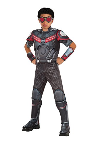Costume Captain Falcon Halloween (Rubie's Costume Captain America: Civil War Falcon Deluxe Muscle Chest Child Costume,)