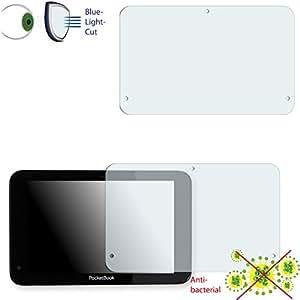 2 x Película de protección de pantalla DISAGU ClearScreen para PocketBook Surfpad 2 antibacterial, filtro BlueLightCut película de protección