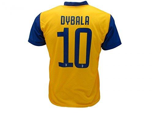 T-Shirt Fußball PAULO DYBALA 10 Juventus AWAY Gelb-Blau Saison 2017-2018 Replica OFFIZIELLE mit LIZENZ - Alle Größen KINDER und ERWACHSENE