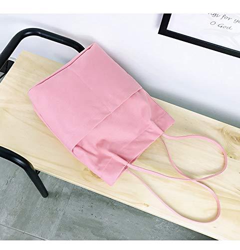 Studente Letteraria Per Bag E Leisure Donna Secchiello pink Shopping Ynnb Protezione Canvas Borsa Lavoro Scuola Tracolla Semplice Ladies Ambientale A Pink Viaggi La Quotidiani 6RqZ6czWIx