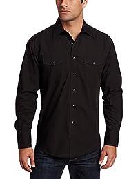 Wrangler Mens Sport Western Snap-Front Long-Sleeve Shirt