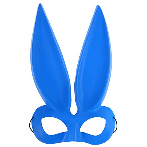 BESTOYARD Half Face Rabbit Ear Mask Bunny Rabbit Eye Mask for Easter Party Halloween Costume Cosplay Accessory (Blue) for $<!--$6.04-->